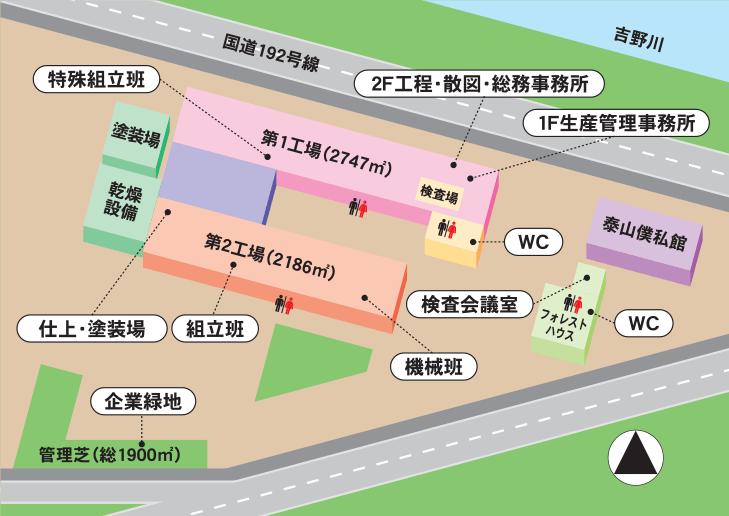 BX朝日建材工場配置図